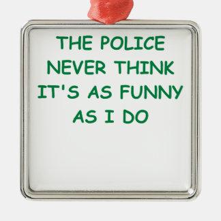 policía adornos