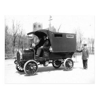 Policía Paddywagon, 1909 Tarjeta Postal