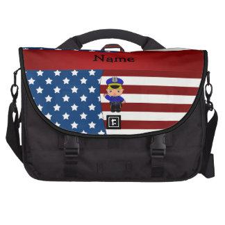 Policía patriótico conocido personalizado bolsa para ordenador