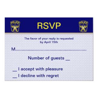 """Policía que casa las tarjetas de RSVP Invitación 5"""" X 7"""""""