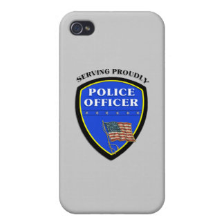 Policía que sirve orgulloso iPhone 4 fundas