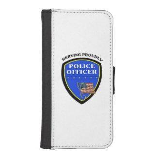 Policía que sirve orgulloso fundas cartera de iPhone 5