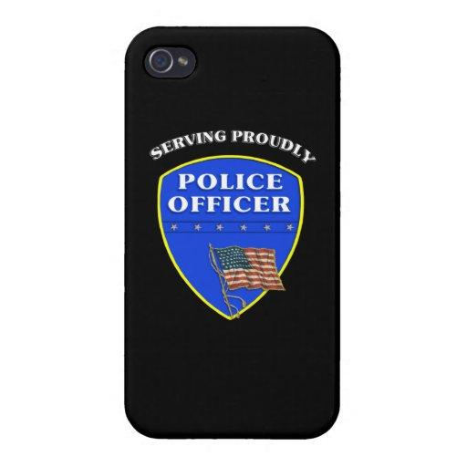 Policía que sirve orgulloso iPhone 4 cárcasas
