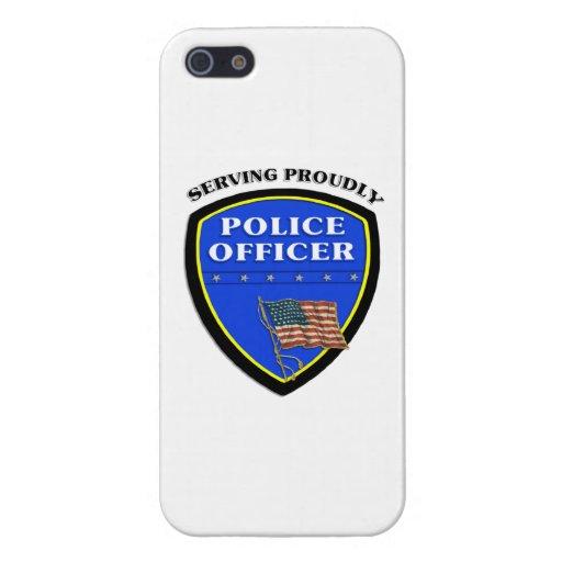Policía que sirve orgulloso iPhone 5 funda