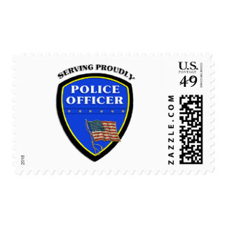 Policía que sirve orgulloso sello