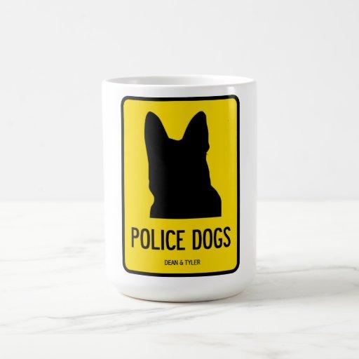 Policía/Sar/perros de ejército Taza Básica Blanca