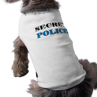 Policía secreta 1 - Camiseta del perro Playera Sin Mangas Para Perro