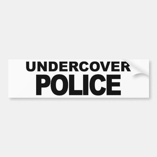 Policía secreta pegatina de parachoque