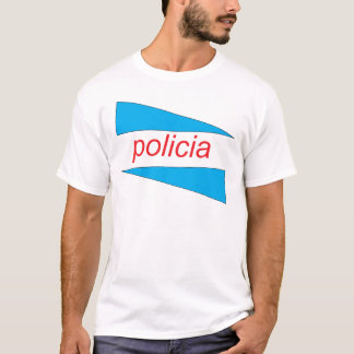 POLICIA with blue wedges shirt