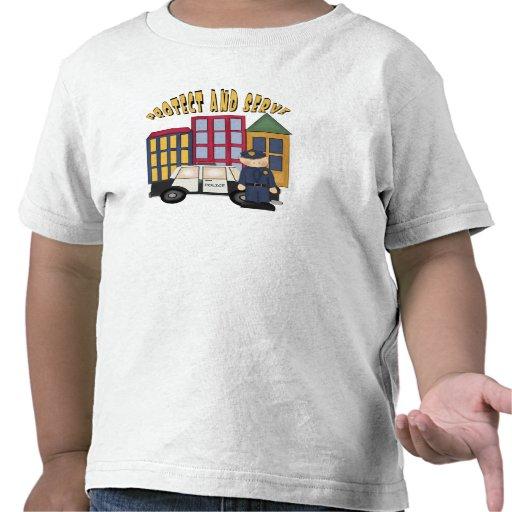 Policías de los muchachos camiseta