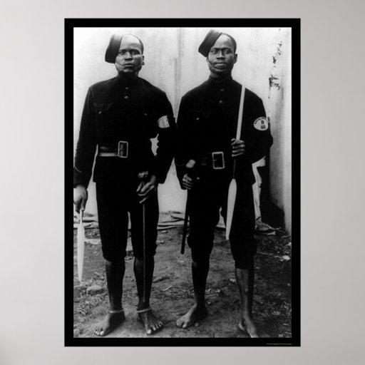 Policías en Ciudad del Cabo, Suráfrica 1902 Poster