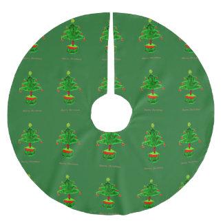 Poliéster cepillado falda del árbol falda para arbol de navidad de poliéster