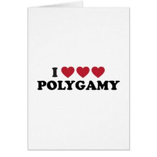 Poligamia divertida del corazón de I Tarjeta De Felicitación
