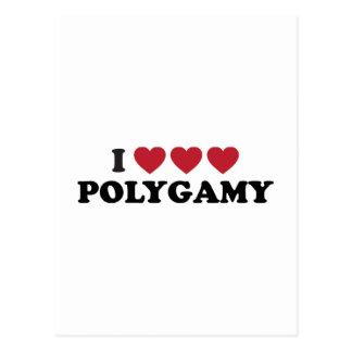 Poligamia divertida del corazón de I Tarjeta Postal