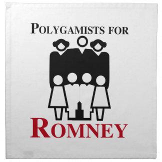 Polígamos para Romney.png Servilletas Imprimidas