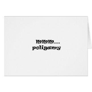 poligamy.... greeting card