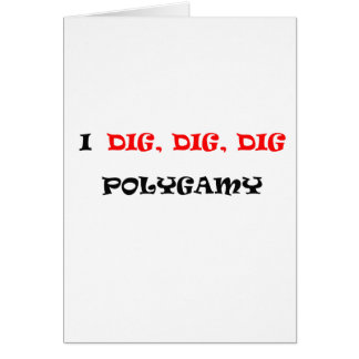 POLIGAMY GREETING CARD