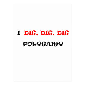 POLIGAMY POSTCARD