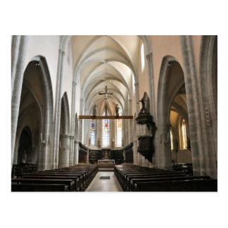 Poligny, Parish Church, Franche Comte Postcard