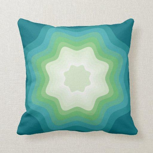 Polígono azulverde de la estrella cojín