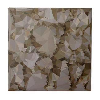 Polígono bajo abstracto Backgroun de Brown del Azulejo Cuadrado Pequeño