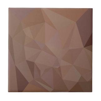 Polígono bajo abstracto Backgroun de Mortuum Brown Azulejo Cuadrado Pequeño