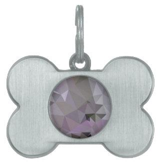 Polígono bajo abstracto púrpura fucsia antiguo placa de nombre de mascota