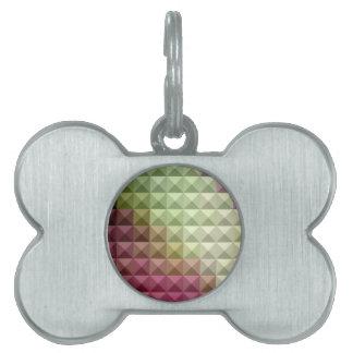 Polígono bajo abstracto púrpura y verde de color placas de mascota