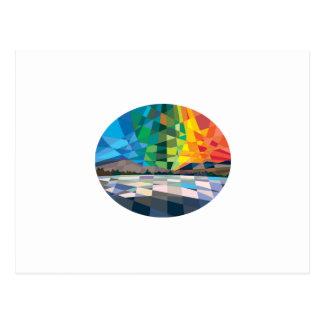 Polígono bajo de Borealis de la aurora de la Tarjeta Postal