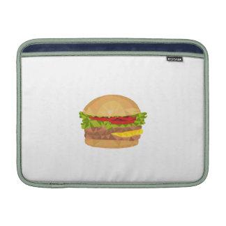 Polígono bajo de la hamburguesa funda macbook air