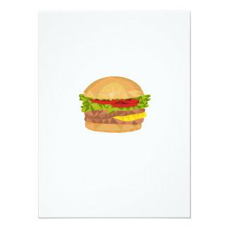 Polígono bajo de la hamburguesa