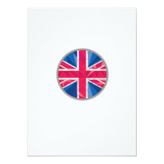 Polígono bajo del círculo BRITÁNICO de la bandera Invitación 13,9 X 19,0 Cm
