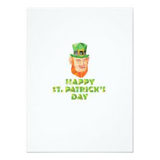Polígono bajo del día de St Patrick del Leprechaun Invitación 13,9 X 19,0 Cm