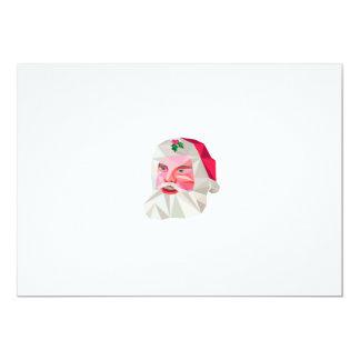 """Polígono bajo del navidad del padre de Papá Noel Invitación 5"""" X 7"""""""
