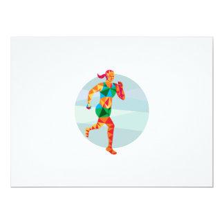 """Polígono bajo femenino del corredor de maratón de invitación 6.5"""" x 8.75"""""""
