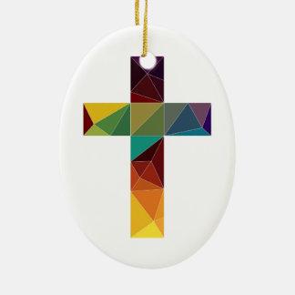 polígono polivinílico bajo Jesús del símbolo de la Adorno Navideño Ovalado De Cerámica