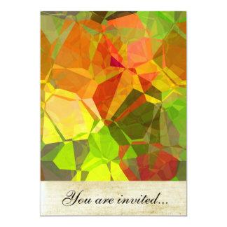 """Polígonos abstractos 101 invitación 5"""" x 7"""""""