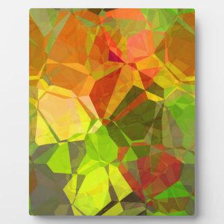Polígonos abstractos 101 placas de plastico