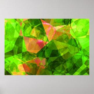 Polígonos abstractos 102 póster