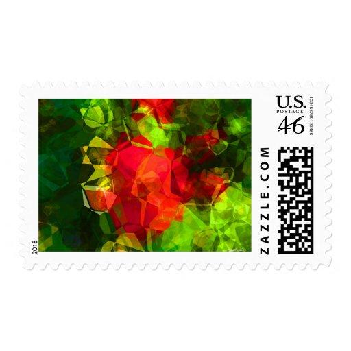 Polígonos abstractos 10 sello