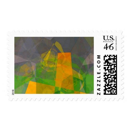Polígonos abstractos 115 sello