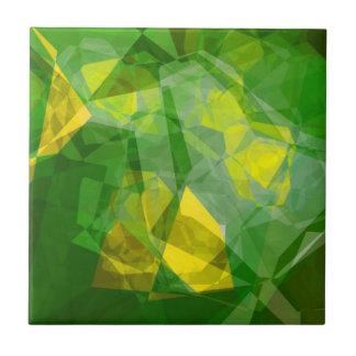 Polígonos abstractos 133 azulejo cuadrado pequeño