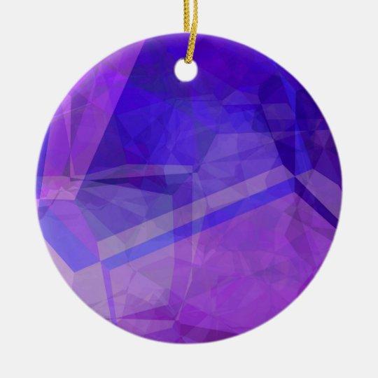 Polígonos abstractos 150 adorno navideño redondo de cerámica