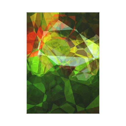 Polígonos abstractos 158 lona estirada galerías