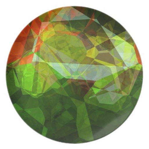 Polígonos abstractos 158 platos de comidas