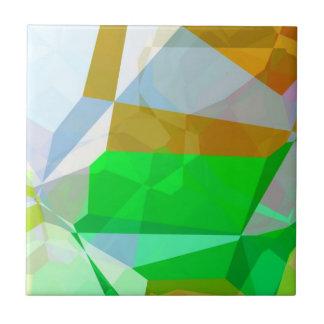 Polígonos abstractos 165 azulejo cuadrado pequeño