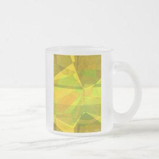Polígonos abstractos 175 taza de cristal