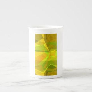 Polígonos abstractos 175 taza de porcelana