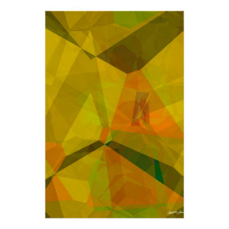 Polígonos abstractos 176 póster