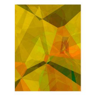 Polígonos abstractos 176 tarjeta postal